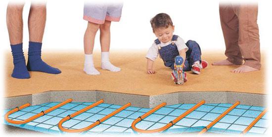 Podlahové vytápění zajistí komfort bydlení pro celou rodinu