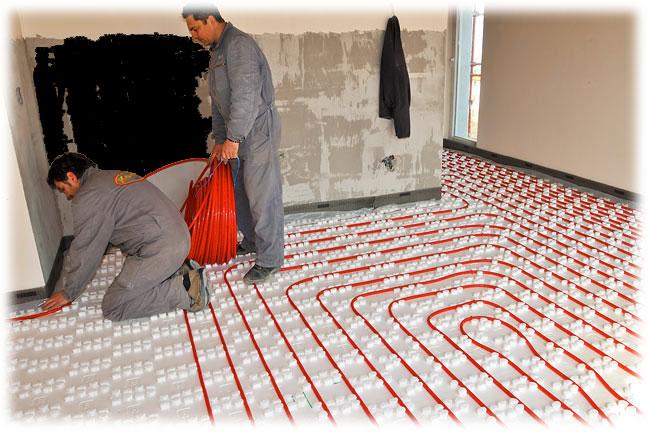 Provádíme montáže podlahového topení