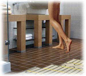 Elektrické podlahové vytápění - topení vhodné do koupelen
