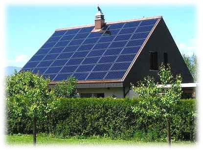 Solární vytápění je typickým příkladem využití obnovitelných zdrojů energie