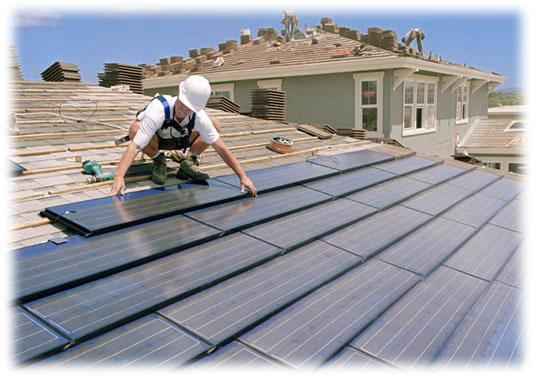 Střešní solární kolektory