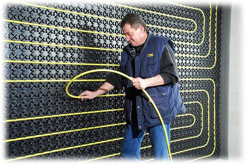 Provádíme montáže stěnového topení