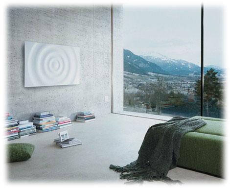 Elektrické stěnové vytápění může mít i podobu infatopení